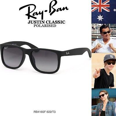 c318c05bd21bd9 Authentic Ray-Ban Sunglasses JUSTIN RB 4165 622 T3 Mens 54mm Shaded  Polarised