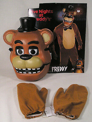 FIVE NIGHTS AT Freddy's Freddy 1/2 Mask & Brown Mitts, Child Costume  Accessory