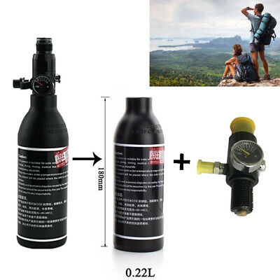 0.22L 4500PSI Air Aluminum Tank For PCP Piantball Sports With Regulator Black
