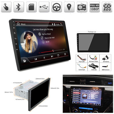 "9"" Android 8.1 1Din Car Stereo Radio GPS Player Octa-Core 1+16G Wifi OBD DAB DVB"