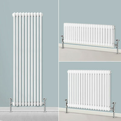 Traditional Radiator Vertical & Horizontal Column Cast Iron Style Rads White UK