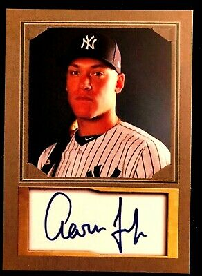 AARON JUDGE RARE Photo / Auto Custom Art Card. ACEO