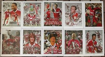 "Legends of Liverpool FC 16x12"" Hand Signed Montage Photographs £15 Each with COA"