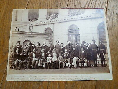 King Chulalongkorn of Siam (Thailand), photograph with British lords etc 1872