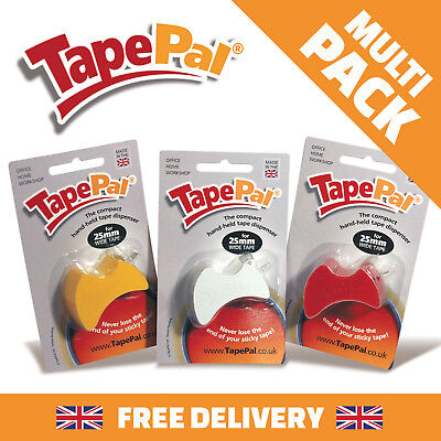 3 X Tapepal  Multi Pack Tape Dispensers Sticky Hand Held Christmass Wrapping