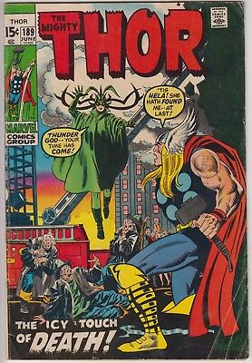 "Thor 189 - ""The Icy Touch of Death!"" Thor v Hela. Bronze age cents issue"