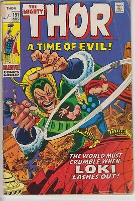 "Thor 191 - 1st Durok the Demolisher. ""Loki Lashes Out!"" Bronze age pence issue"