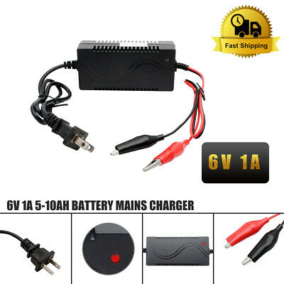 6V 1A Smart Lead acid Battery Charger Maintainer Tender Trickle Float Chargers