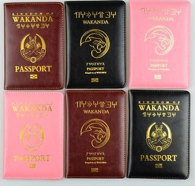 HOT! Wakanda citizen Travel Passport 2018 Cover Holder PU Wallet FREE SHIPPING