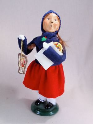 """Byers' Choice 9 1/2"""" Girl Child with Cookies Caroler Figurine Exc Cond"""
