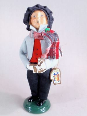 Byers' Choice 9 3/4 Boy Child with Cookies Caroler Figurine Exc Cond
