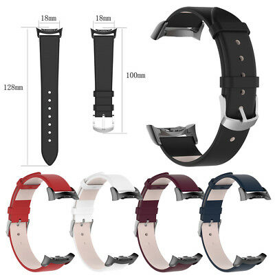 Leather Watch Band Wrist Strap with Adapter For Samsung Gear Fit2/Fit 2 Pro
