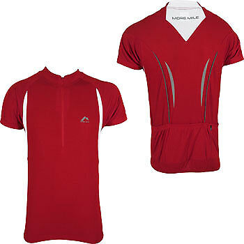 Provided More Mile Mens Cycle Jersey Short Sleeve Half Zip Breathable Summer Cycling Top Jerseys Activewear Tops