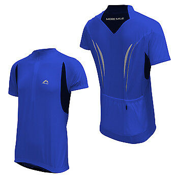 Provided More Mile Mens Cycle Jersey Short Sleeve Half Zip Breathable Summer Cycling Top Clothing, Shoes & Accessories Sporting Goods