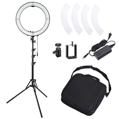 "19"" 50W LED Ring Light Stand Kit Dimmable 3200-5500K Holder for Camera Video"