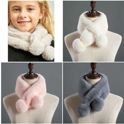 Women Fashion Faux Rabbit Fur Winter Soft Warm Neck Wraps Scarfs Scarves New
