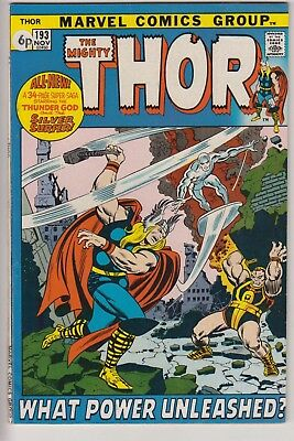 Thor 193 - Silver Surfer x-over. 48 page square bound. Bronze age cents issue
