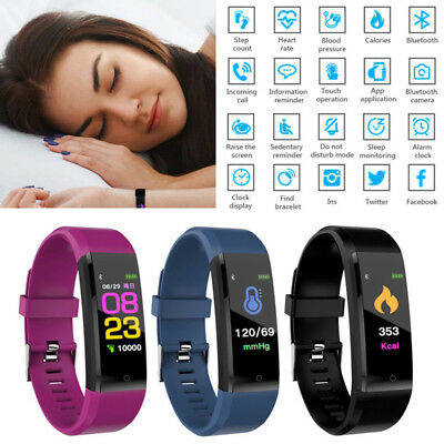 Fitness Smart Watch Activity Tracker Women Men Kids Heart Rate Fit Android iOS z