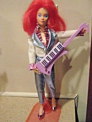 1985 Jem and the Holograms KIMBER doll, ORIGINAL clothes, shoes, stand, Guitar!