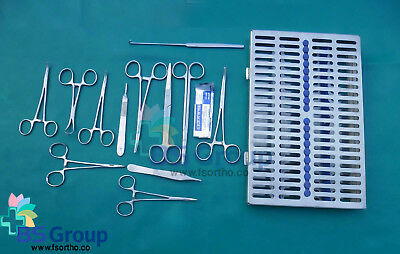 30 Piece General Surgery Set Veterinary Animal Hospital of Surgical Instruments