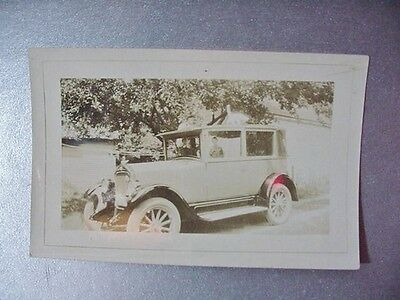 Antique Photo of a Touring Car with Bird / Duck Hood Ornament about 1925, 61-681