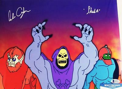 Alan Oppenheimer Skeletor Signed Motu 11X14 Metallic Photo Bas Coa 237