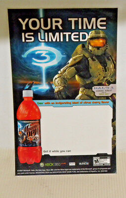 Your Time Is Limited Edition Game Fuel Mountain Dew X Box Halo 3 Game Sticker
