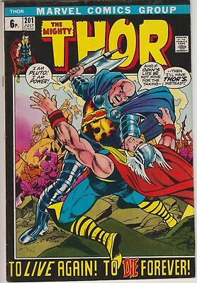 "Thor 201 -""To Live Again to Die Forever!"" Origin Ego-Prime Bronze age pence copy"