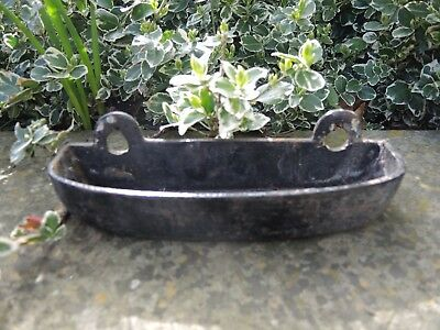Small Antique  Cast Iron Trough Bird Feeder /   Garden Planter  (407d)