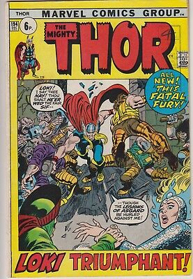 "Thor 194 - ""Loki Triumphant!"" Gerry Conway stories begin. Bronze age pence issue"