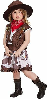 Cow Girl Fancy Dress Dressing Up Costume Kid Toddler Child Outfit World Book Day