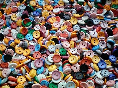25 50 100 Mixed 14mm Buttons Small Blue Pink Grey Cream Black Assorted Craft MX1