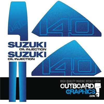 Suzuki DT140hp outboard engine decals/sticker kit