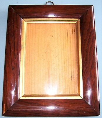 Antique Georgian Miniature Rosewood Cushion Profile Gilt Slip Picture Frame 1830