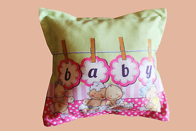 1pcs. Baby 100% cotton bedroom square 30-30cm colorfull pillow with sylicon fur