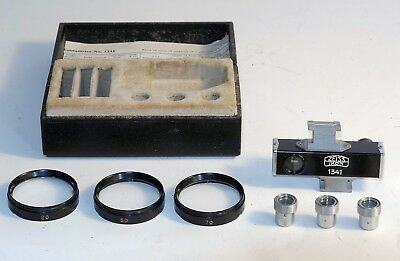 Vintage Zeiss Contameter 1341 w/ 3 Macro Lenses + Eyepiece for Contax I/II+ case