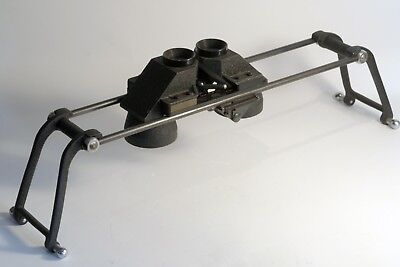 Vintage 3D Schneider Göttengen Map Stereo Viewer Apparatus and Folding Stand