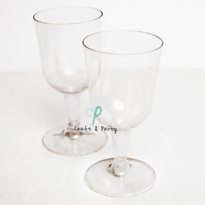 Plastic Wine Glasses Champagne Flutes Wedding Party Disposable Cups 120pcs Clear