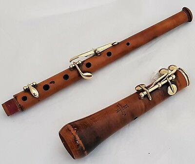 Antique Pastoral Piccolo Oboe in F (Musette) by Thibouville Freres ca.1870's