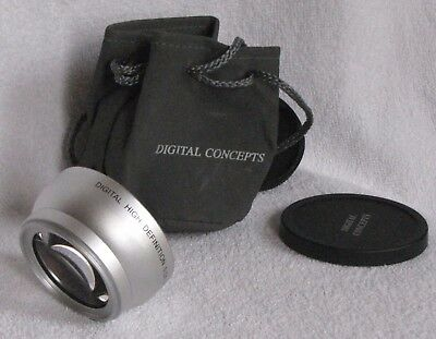High Definition Wide Angle Lens 0.5x Converter Digital Concepts 52 mm