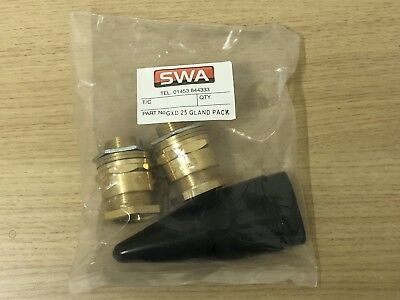 SWA GXD 25 Brass Gland Pack For SY / CY Braided Type Cables 25mm M25