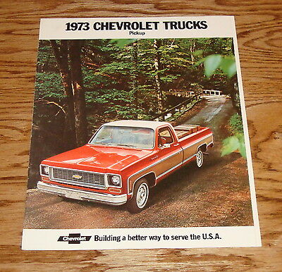 Original 1973 Chevrolet PIckup Truck Sales Brochure 73 Chevy Chassis-Cab