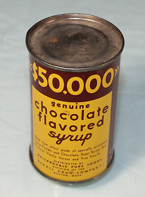 Antique Original Unopened Can of Rexall Drug $50,000 Chocolate Flavored Syrup