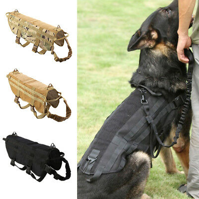 Tactique K9 chien formation militaire gilet police nylon service canin harnais