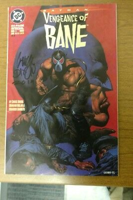 BATMAN: VENGEANCE OF BANE #1 SECOND PRINT FIRST APPEARANCE OF BANE Signed Dixon