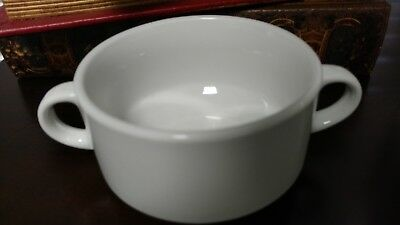 Vintage MAMMOET HotelPorselein White 2-Handle Soup Bowl Dish Restaurant Ware