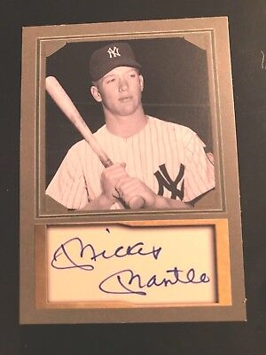 MICKEY MANTLE RARE Photo / Auto Custom Art Card. ACEO -