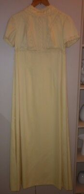 VINTAGE 1960s LONG YELLOW  DRESS SIZE SSW  GOOD CONDITION