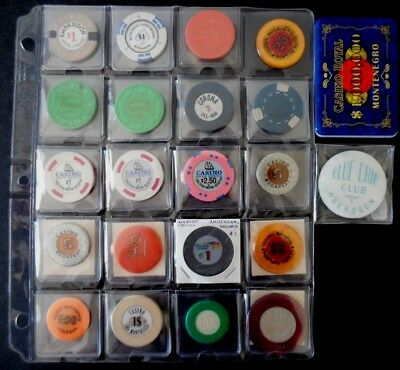 Lot of 22 Foreign Canada & Europe Casino Token Chips