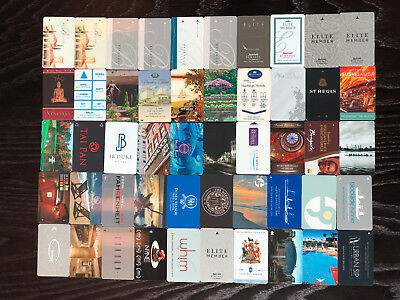 Fantastic Luxury Hotel, Casino & Resort Key Card Collection - 50 Keys